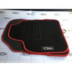 CLİO 2 Siyah Kırmızı Çerçeveli Paspas HB Orjinal Mugen Halı PASPAS