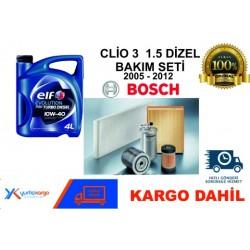 CLİO 3 1.5 DİZEL BAKIM SETİ 2005-2012