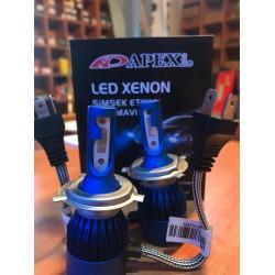 apexi led xenon H4 40000K deli mavi