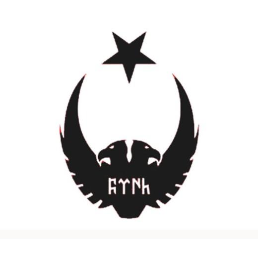 ay yıldız kartal göktürk stiker
